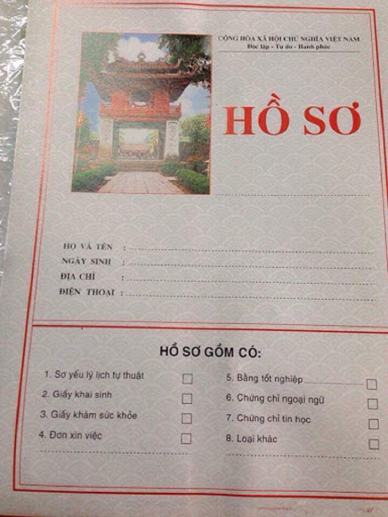 Hướng dẫn thiết kế cho mẫu bìa hồ sơ xin việc bằng tiếng anh chuyên nghiệp